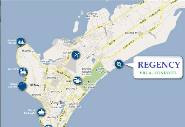 Vị trí dự án Vũng Tàu Regency