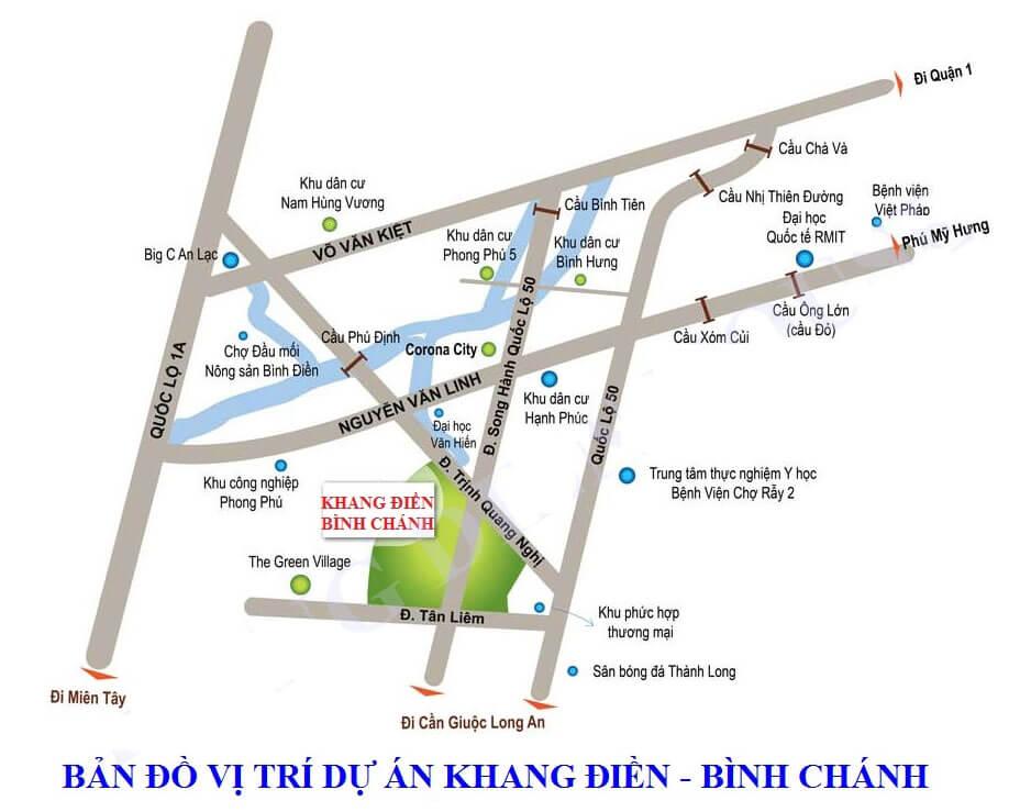 Vị trí dự án Lovera Park Khang Điền, Bình Chánh